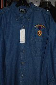 Purple Heart Medal L/S Denim Shirt-MOPH