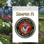 Garden Flag USMC Combat Wounded