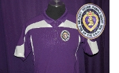 Purple with White Top Trim Poly Polo-MOPH