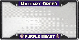combat wounded license plate frame - Military License Plate Frames