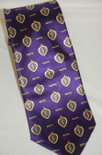 Purple Heart Print Necktie