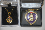Purple Heart Medal Necklace