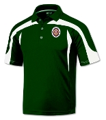 Green with White Top Trim Poly Polo-MOPH