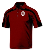 Red with BlackTop Trim Poly Polo