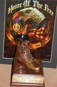 Purple Heart Bronze Boot