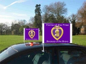 Purple Heart Car Flags