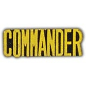 Commander Lapel Pin