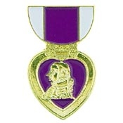 Purple Heart half ribbon Lapel Pin P14