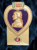 Purple Heart Memento Display Designed and Created by Our Company to Honor Our Combat Wounded Veterans