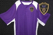 Purple & White Polyester Jersey
