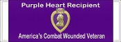 Purple Heart Recipient Decal
