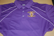 MOPH Purple Dual Line Polyester Polo Shirt