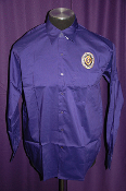 National Logo Long Sleeve Purple Dress Shirt