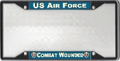 US Air Force Combat Wounded License Plate Frame