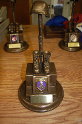 Soldiers Cross Statue Purple Heart