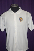 MOPH White Polyester Button up  Polo Shirt