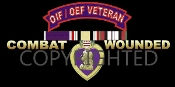 War Fought Purple Heart License Plate