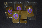 Purple Heart Money Clip