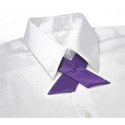 Ladies Purple Cross Over Tie
