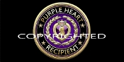3D Purple Heart Recipient License Plate