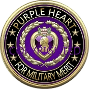 3D Purple Heart Merit Mousepad