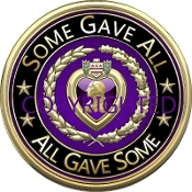 3D Purple Heart Slogan Mousepad