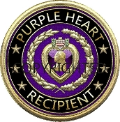 3D Purple Heart Recipient Decal