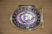 3D Purple Heart Belt Buckle