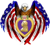 American Eagle Purple Heart Lapel Pin