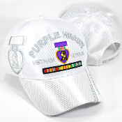 Hat Vietnam Veteran Purple Heart White Web